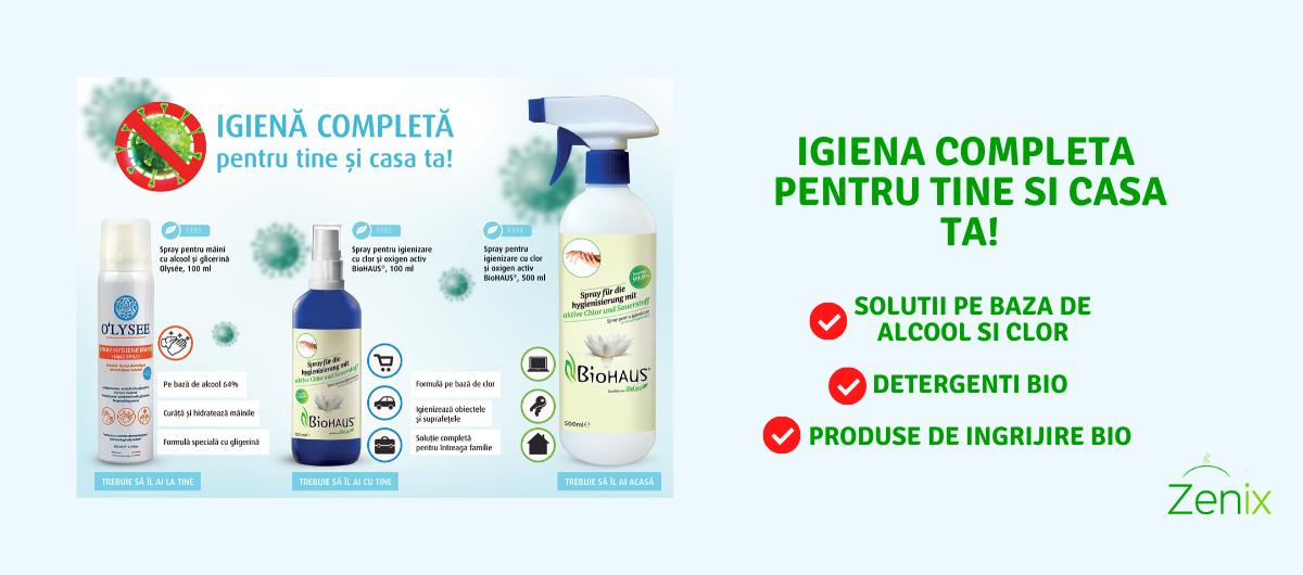 Igiena completa pentru tine si casa ta