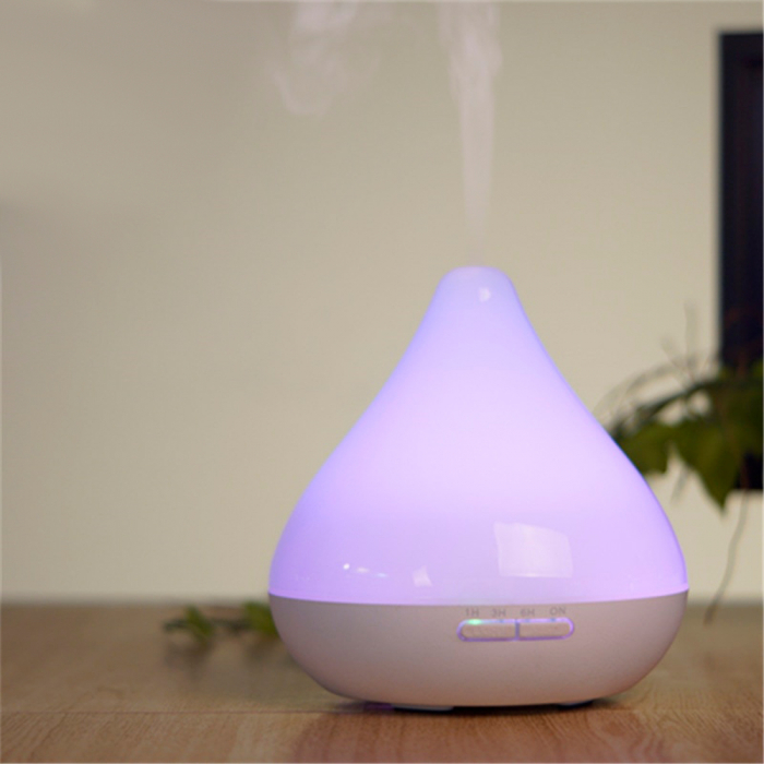 Difuzor aromaterapie, Zenix, GX-13K, 300ml, 16 ore, ultrasonic - Alb perlat [2]