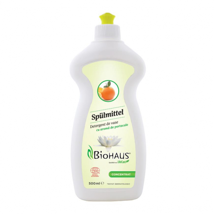 Detergent pentru vase, cu aroma de portocale BioHaus® - certificat Ecocert [1]