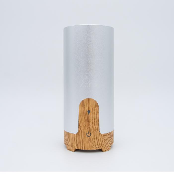 Difuzor aromaterapie MASINA / BIROU, Zenix, GX-B02, 50ml, 4 - 8 ore, ultrasonic - Stejar deschis + Argintiu 0