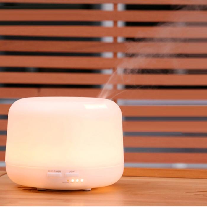 Difuzor aromaterapie, Zenix - Apollo, 300ml, 16 ore, ultrasonic, telecomanda - Alb 2