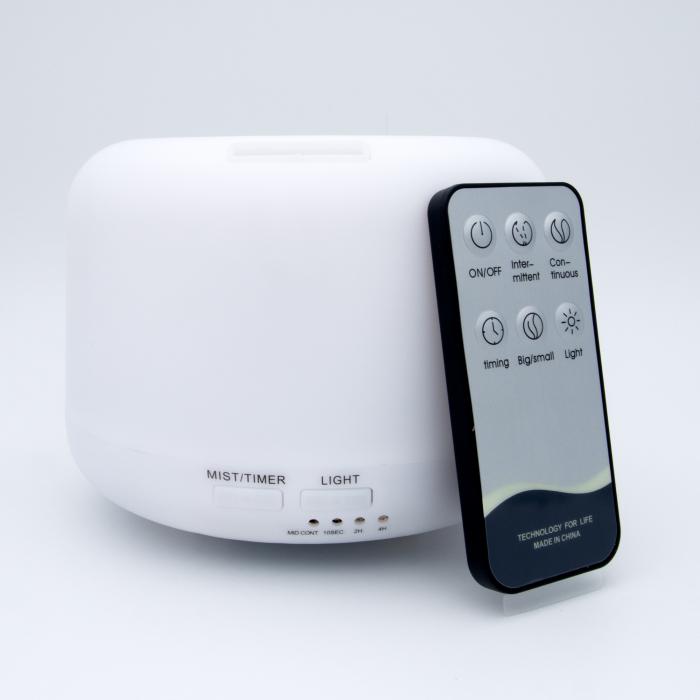Difuzor aromaterapie, Zenix - Apollo, 300ml, 16 ore, ultrasonic, telecomanda - Alb 0