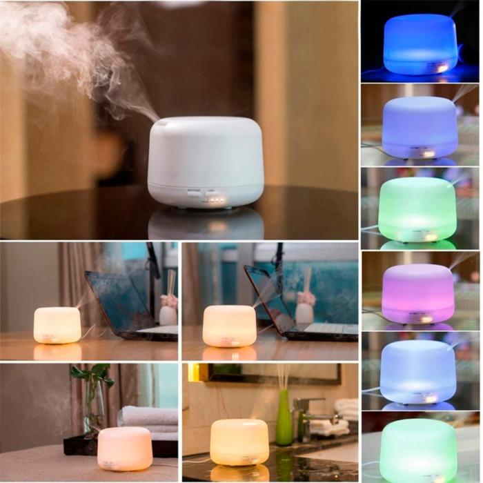 Difuzor aromaterapie, Zenix - Apollo, 300ml, 16 ore, ultrasonic, telecomanda - Alb 6