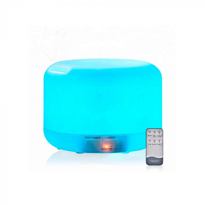 Difuzor aromaterapie, Zenix - Apollo, 300ml, 16 ore, ultrasonic, telecomanda - Alb 8