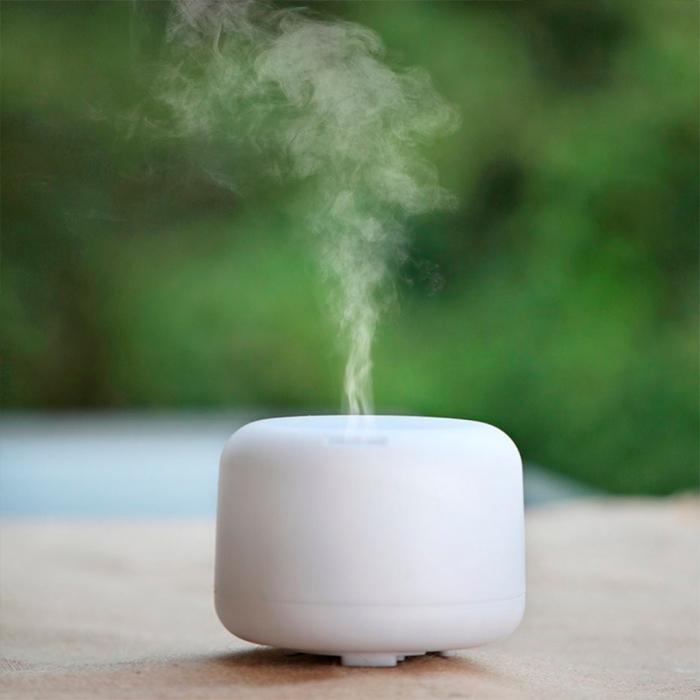 Difuzor aromaterapie, Zenix - Apollo, 300ml, 16 ore, ultrasonic, telecomanda - Alb 4