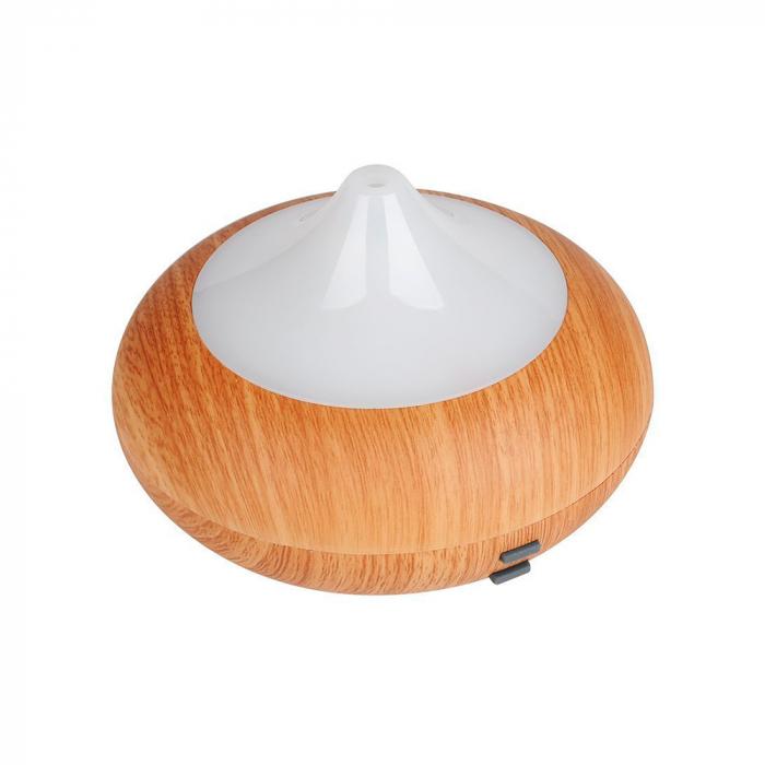 Difuzor aromaterapie, Zenix, GX-02K, 150ml, 8 ore, ultrasonic - Stejar deschis + Alb 3