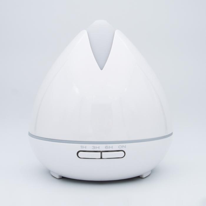 Difuzor aromaterapie, Zenix, Ostara, 400ml, 18 ore, ultrasonic - Alb 0