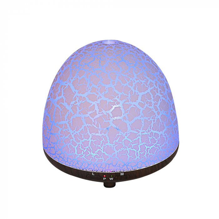 Difuzor aromaterapie, Zenix, Phoenix, 100ml, 5-7 ore, ultrasonic - Stejar inchis + Alb 5