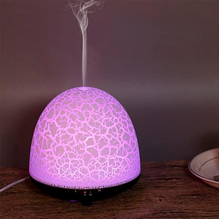 Difuzor aromaterapie, Zenix, Phoenix, 100ml, 5-7 ore, ultrasonic - Stejar inchis + Alb 2