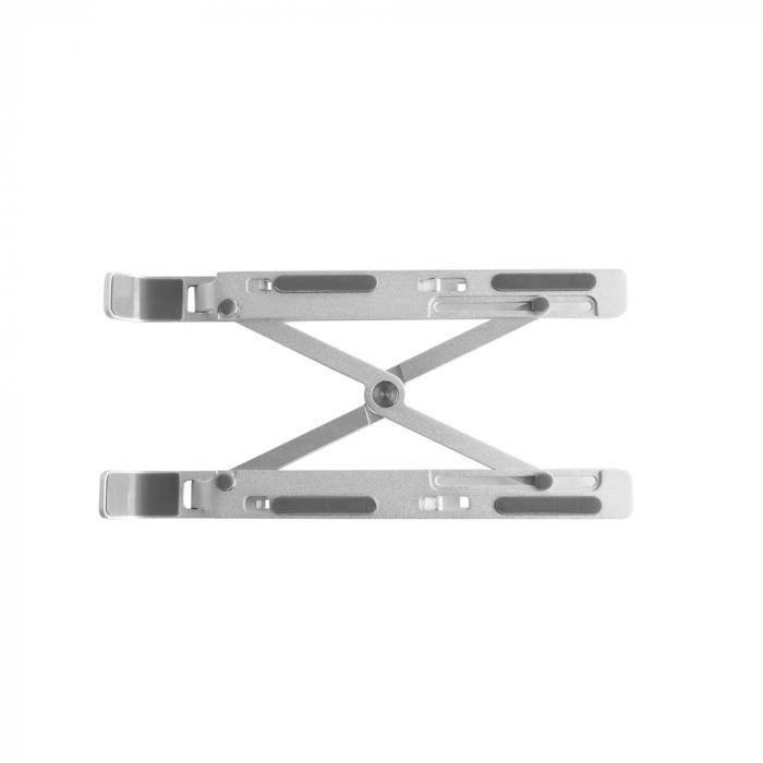 Suport Laptop, Zenix, SL-2, pliabil, aluminiu, argintiu, pana la 15 inch 1