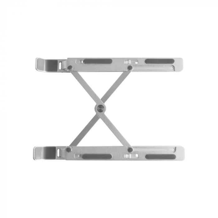 Suport Laptop, Zenix, SL-2, pliabil, aluminiu, argintiu, pana la 15 inch 9