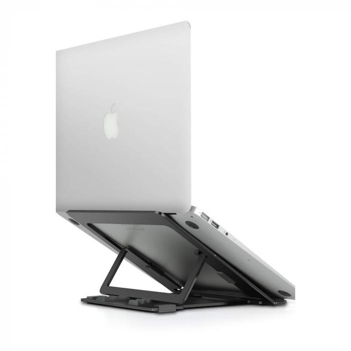 Suport Laptop, Zenix, SL-3, pliabil, aluminiu, gri inchis, pana la 15 inch [6]