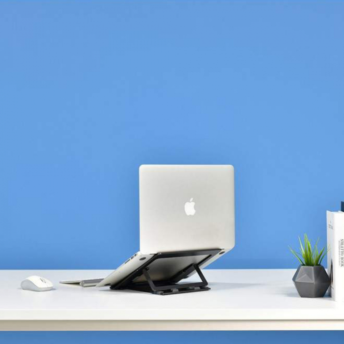 Suport Laptop, Zenix, SL-3, pliabil, aluminiu, gri inchis, pana la 15 inch [4]