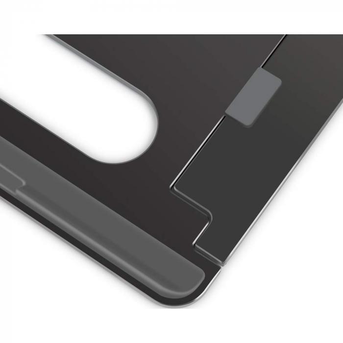 Suport Laptop, Zenix, SL-3, pliabil, aluminiu, gri inchis, pana la 15 inch [2]
