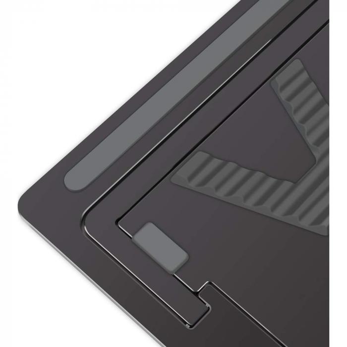 Suport Laptop, Zenix, SL-3, pliabil, aluminiu, gri inchis, pana la 15 inch 1