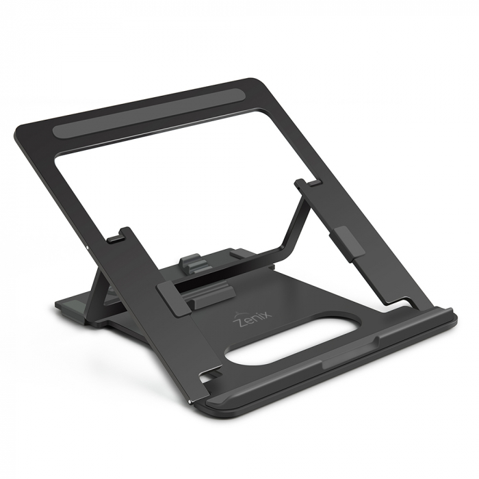 Suport Laptop, Zenix, SL-3, pliabil, aluminiu, gri inchis, pana la 15 inch 0