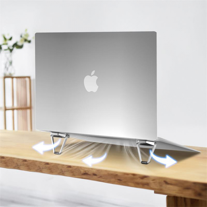 Suport Laptop, Zenix, SL-4, pliabil, aluminiu, pana la 17 inch 4