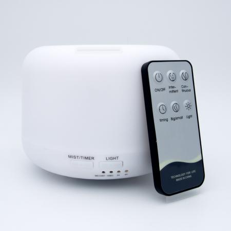 Difuzor aromaterapie, Zenix - Apollo, 300ml, 16 ore, ultrasonic, telecomanda - Alb0