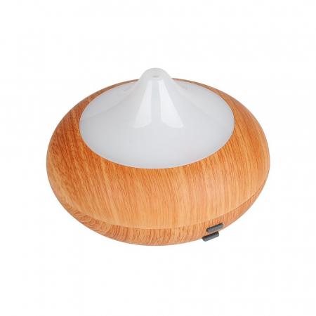 Difuzor aromaterapie, Zenix, GX-02K, 150ml, 8 ore, ultrasonic - Stejar deschis + Alb3