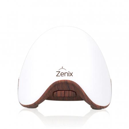 Difuzor aromaterapie, Zenix, GX-L07, portabil, fara apa, 5 ore - Stejar inchis + Alb [0]