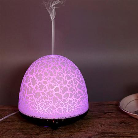 Difuzor aromaterapie, Zenix, Phoenix, 100ml, 5-7 ore, ultrasonic - Stejar inchis + Alb2