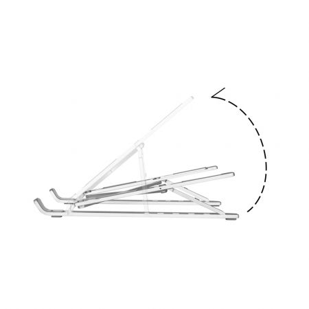 Suport Laptop, Zenix, SL-2, pliabil, aluminiu, argintiu, pana la 15 inch7