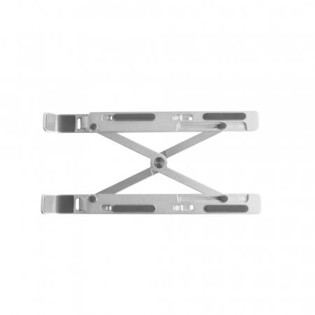 Suport Laptop, Zenix, SL-2, pliabil, aluminiu, argintiu, pana la 15 inch1