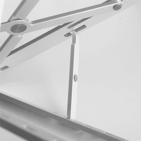 Suport Laptop, Zenix, SL-2, pliabil, aluminiu, argintiu, pana la 15 inch8