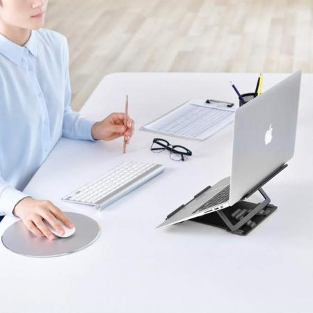 Suport Laptop, Zenix, SL-3, pliabil, aluminiu, gri inchis, pana la 15 inch [5]