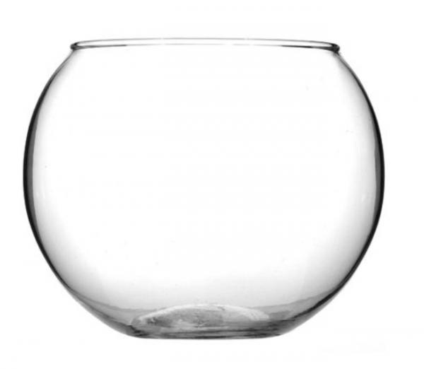 Bol de sticla rotund decorativ, 14.5x12 [0]