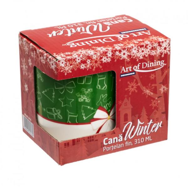 Cana portelan fin  310 ml, WINTER [8]