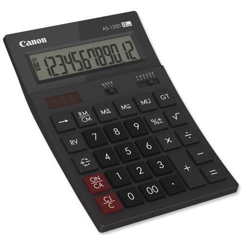 CANON AS1200, calculator 12 digits 0