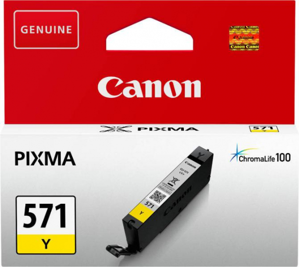CANON CLI-571Y YELLOW INKJET CARTIDGE 0