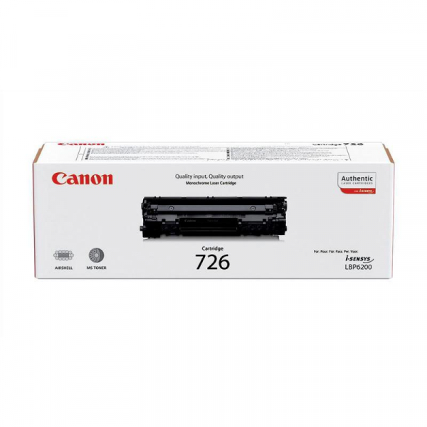 CANON CRG726 BLACK TONER CARTRIDGE 0