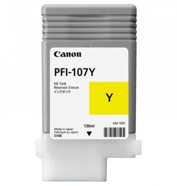 CANON PFI-107Y YELLOW INKJET CARTRIDGE 0