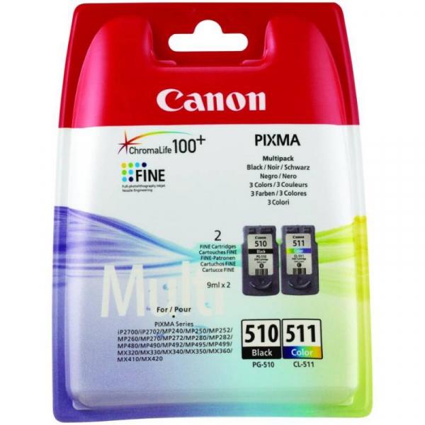 CANON PG510/CL511 INKJET PACK CARTRIDGES 0