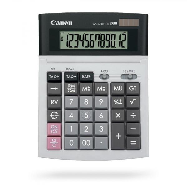 CANON WS1210THB, calculator 12 digiti 0