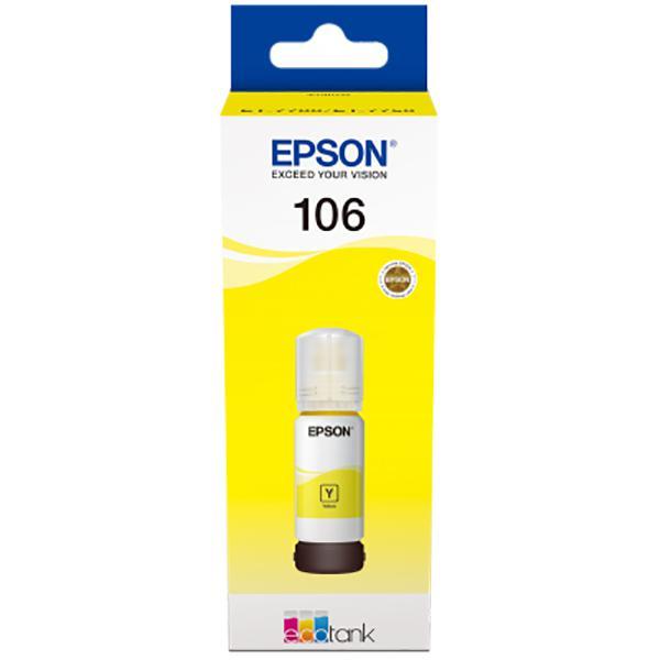EPSON 106 ECOTANK YELLOW INK BOTTLE 0