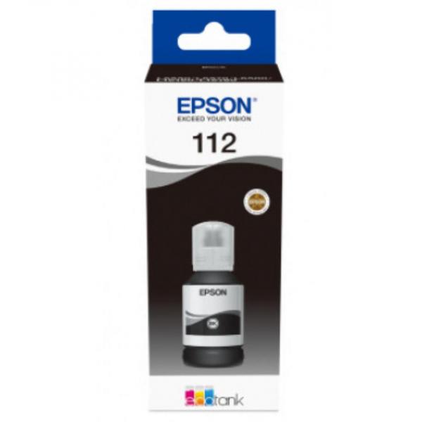 EPSON 112 ECOTANK PIGMENT BK INK BOTTLE 0