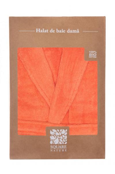 HALAT DE BAIE DAMA BBC ORGANIC - CORAL [3]