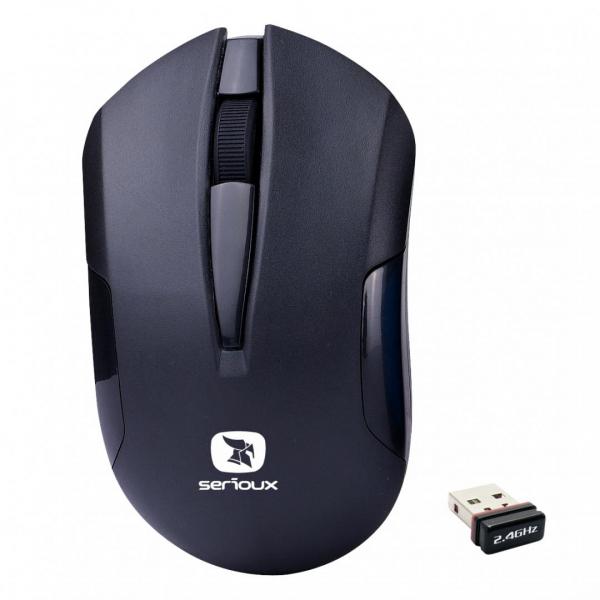 MOUSE SERIOUX DRAGO300 WR BLACK USB [0]