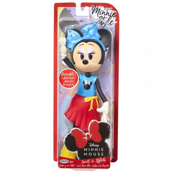 Papusa Minnie Mouse cu fundita albastră 0
