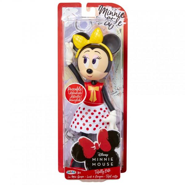Papusa Minnie Mouse cu fundita galbena 0