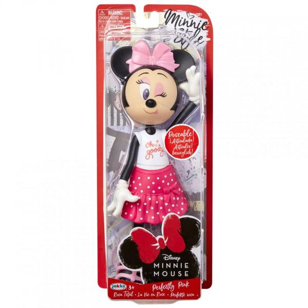 Papusa Minnie Mouse cu fundita roz 0