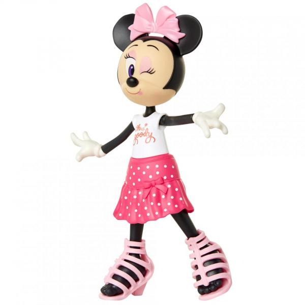 Papusa Minnie Mouse cu fundita roz 2