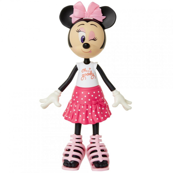 Papusa Minnie Mouse cu fundita roz 1