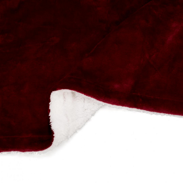 PATURA FLEECE DARK RED 127X150 CM 1