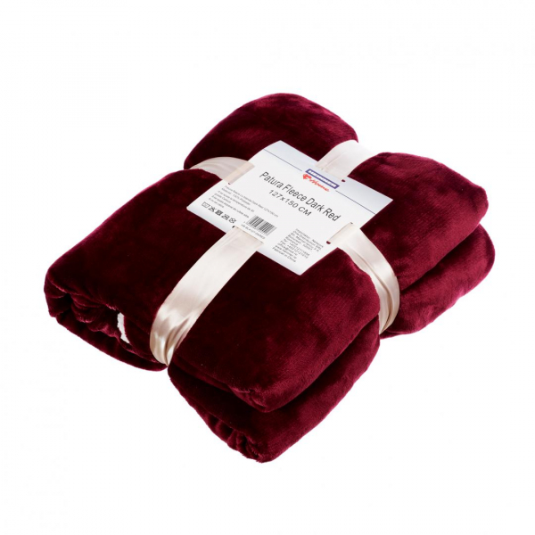 PATURA FLEECE DARK RED 127X150 CM 0