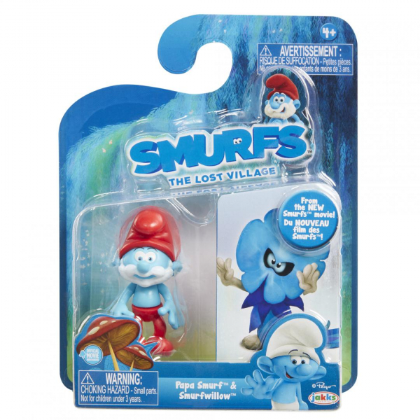Set 2 Strumfi- Papa Smurf si Smurfwillow 0