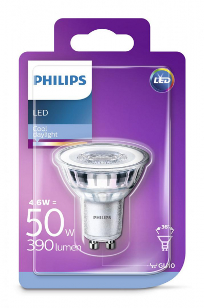 SPOT LED PHILIPS GU10 6500K 390 LUMENI 1